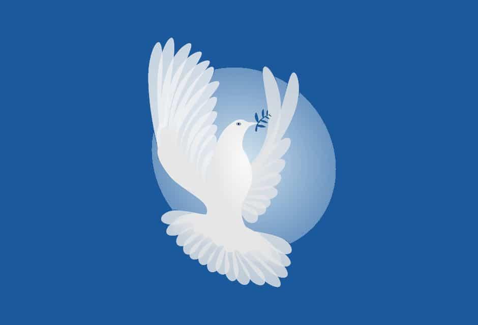 A dove - Kahlil Gibran's parables of peace