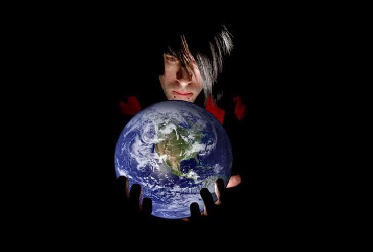 Hands holding globe - earth