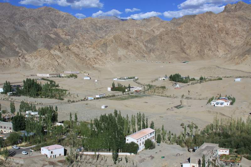 Panorama of Mahabodhi in Ladakh, India