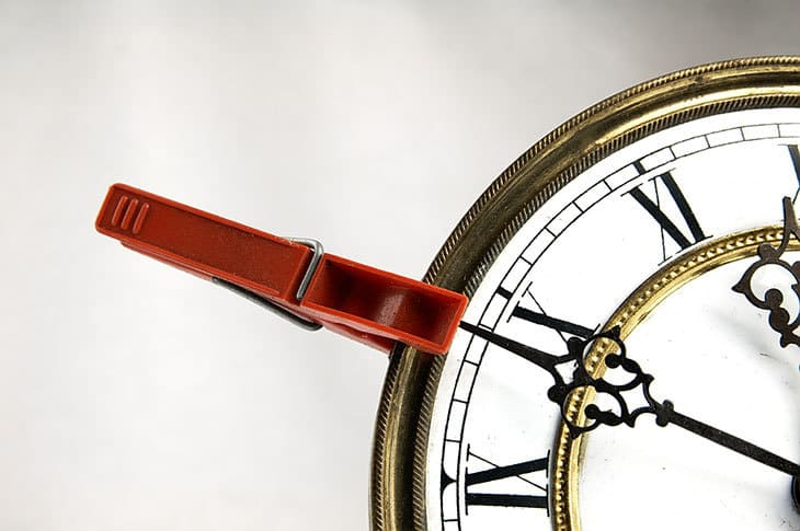 Clothespin on clock
