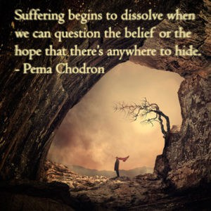 Pema Chodron suffering and acceptance quote