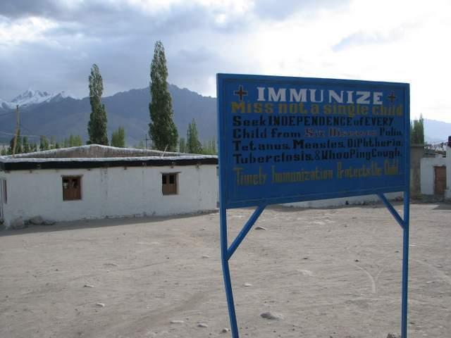 immunize sign in Ladakh