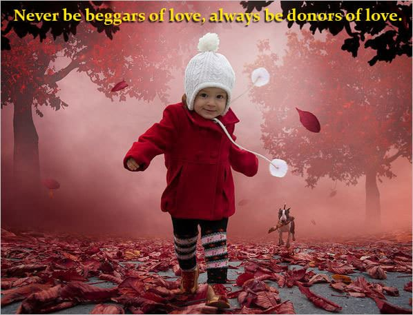 Child running - deep love quotation