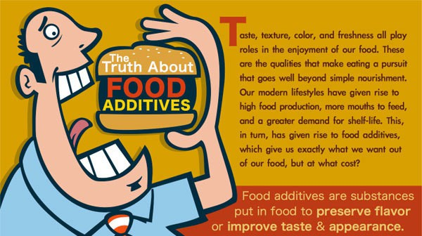 The truth about food additives - infographic