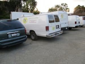 Delivery vans - White Pony Express