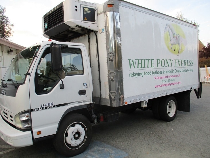 Delivery truck - White Pony Express