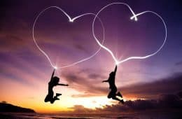 Couple jumping with hearts - Bob Sima music review