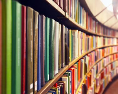 Full library bookshelf - Running out of authors