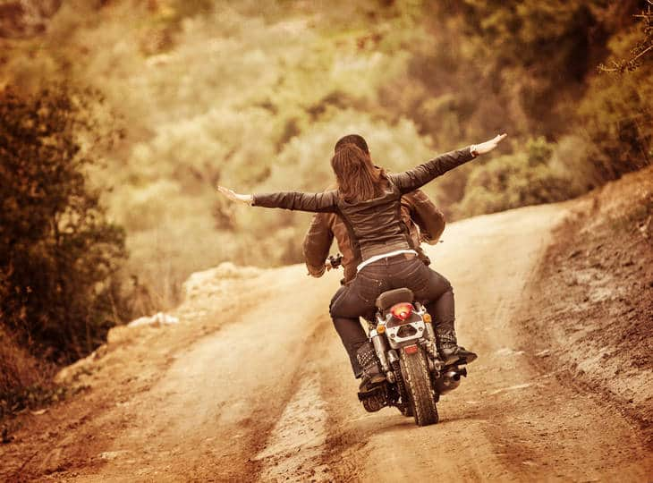 Couple on motorcycle - The importance of dharma