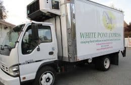 Delivery truck cropped - White Pony Express