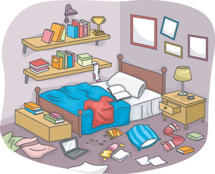 Disorganized Room - Clutter and Simplifying