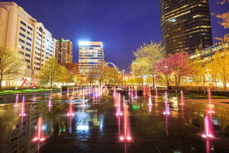 Downtown St. Louis at night - Adieu Rivendell fiction story Part 2