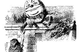 Humpty Dumpty with Alice in Wonderland