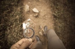 Using compass on forest path - Fear as desire unexpressed
