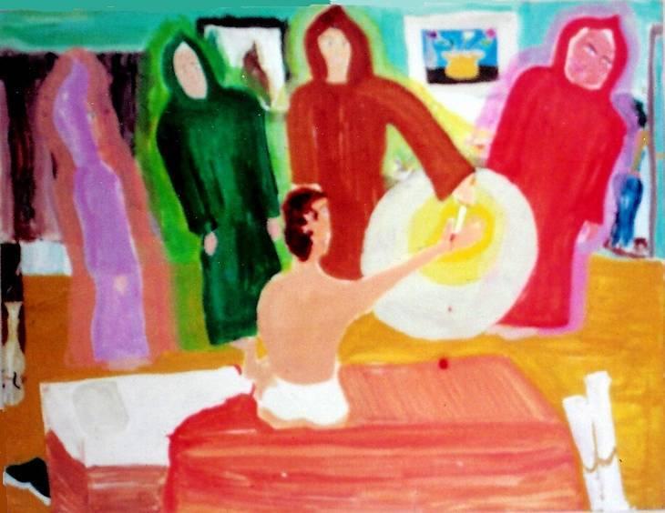 """Initiation Dream"" painting - The Brotherhood"