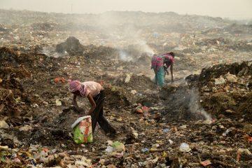 Rag pickers in India - rummaging through garbage