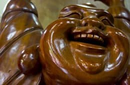 Face of Laughing Buddha