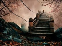 DREAM INTERPRETATION: Means of moving between levels of consciousness [symbols: stairs/stairways, pathway, people]