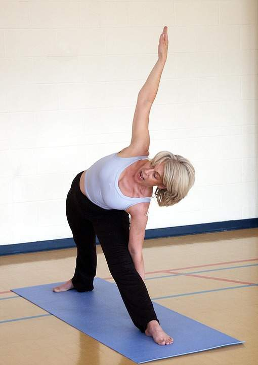 yogini-in-triangle pose