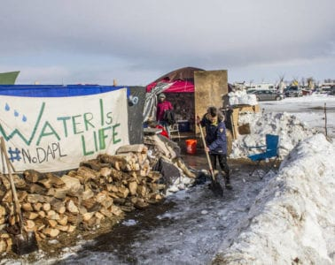 """Standing Rock protest sign - LaRose and the """"other"""""""