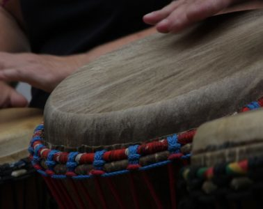 drummers with djembe drums