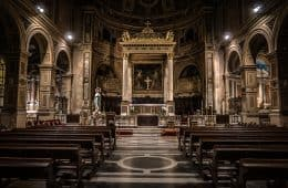 Inside cathedral - spiritual identity