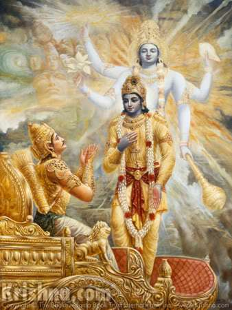 Bhagavad Gita : Krishna and Arjuna