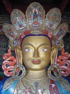 Maitreya Buddha (Future Buddha) statue at Thiksey Monastery