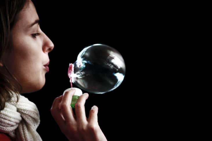 Breath - blowing bubble