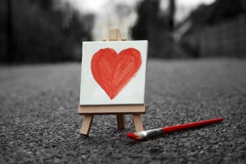 heart painting