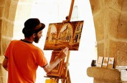painter painting alone