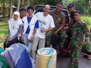 People Who Care: Dr. Cary Rasof - with staff in Indonesia after tsunami