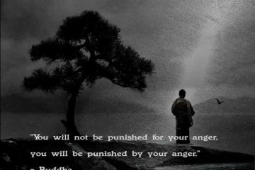 Quote by Buddha on anger - man standing beside tree