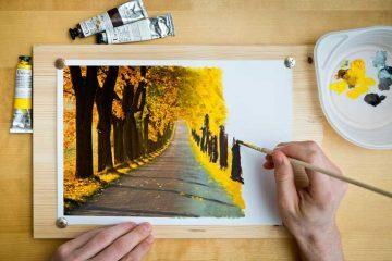 Artist painting