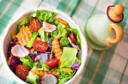 salad being vegan