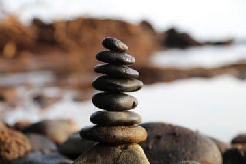 stones balance sixth mindfulness