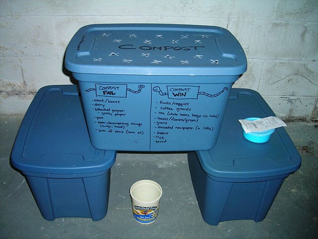 Bins - Bokashi composting - Indoor composting method