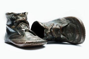 bronzed shoes