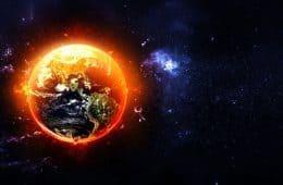 Heated up Earth