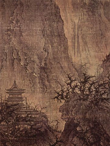 Chinese watercolour - Patience and perseverance