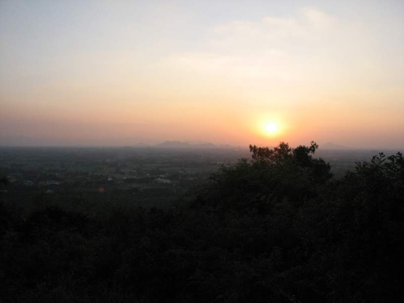 Sunset on Arunachala - Buddha nature in nature