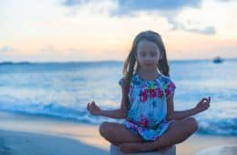 Guided imagery for kids - child meditating