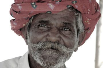 Picture of a smiling man in India