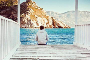 Sitting on dock