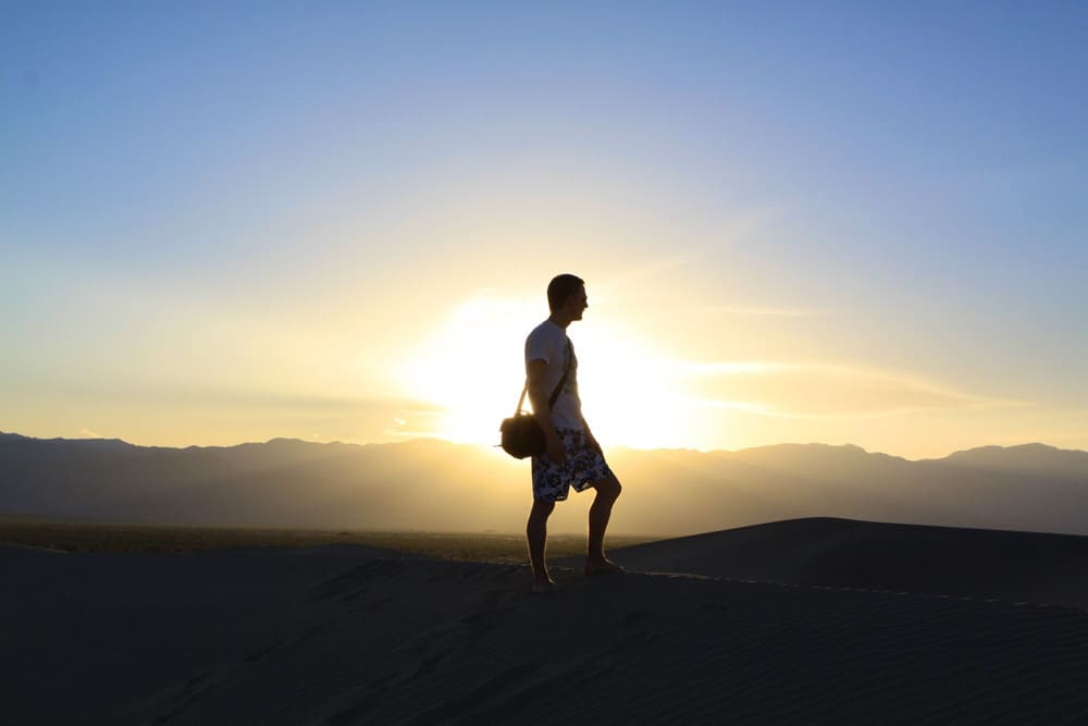 Walking at sunset - mindfullness or mindfulness?