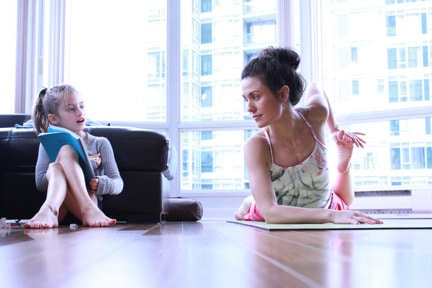 Yoga poses for mom