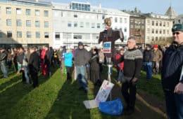 Protests in Reykjavik - Icelandic revolution