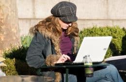 Woman on computer - Slacktivism