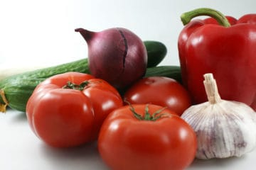 Vegetables in a plants-based whole foods diet