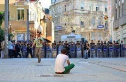 protester - nonviolence